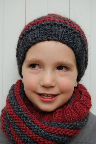 modele tricot snood enfant