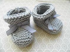 patron chausson bebe tricot gratuit