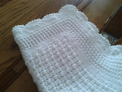 patron couverture bebe tricot