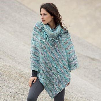 patron de poncho a tricoter gratuit