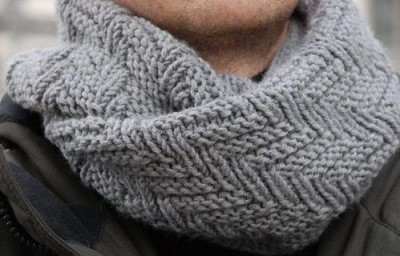 patron gratuit snood tricot