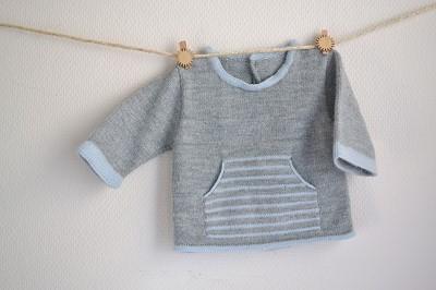 patron gratuit tricot layette