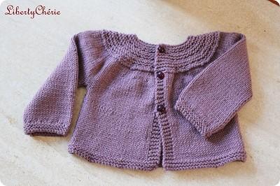 patron tricot gilet bebe gratuit