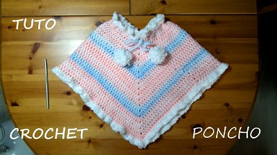poncho bebe au crochet