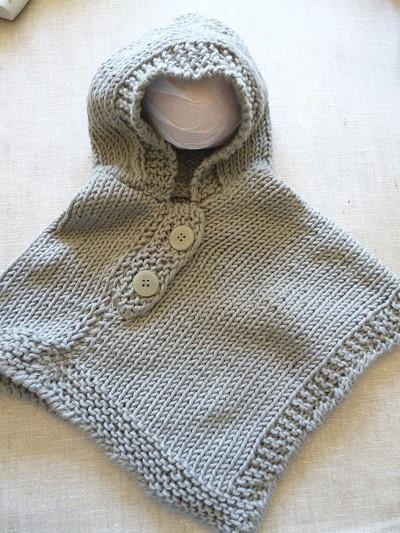 poncho bebe tricot gratuit