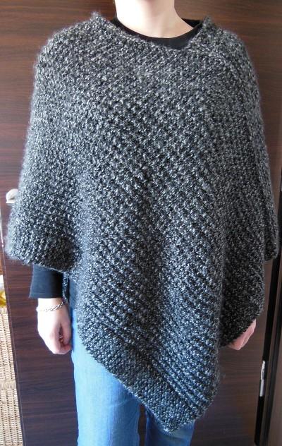 poncho facile a tricoter