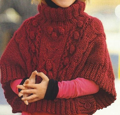poncho fille 8 ans
