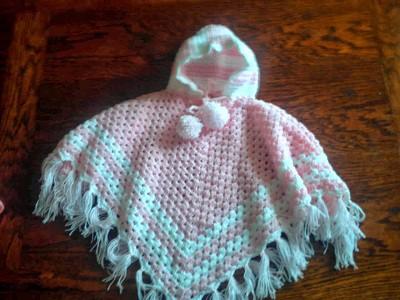 poncho pour bebe au crochet