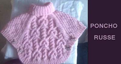 poncho tricot enfant