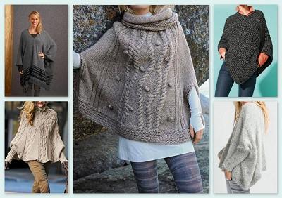 poncho tricot femme