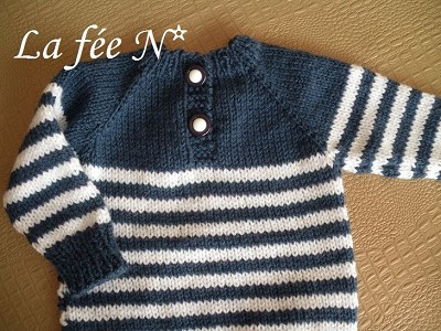 pull bebe a tricoter