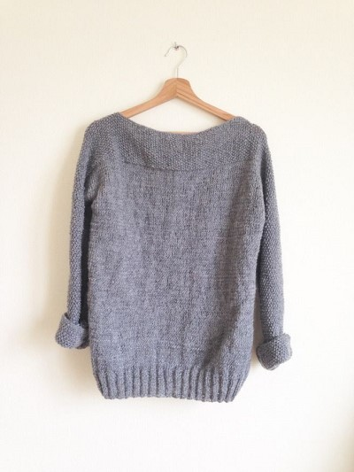 pull facile a tricoter femme