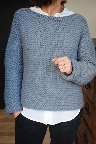 pull femme a tricoter