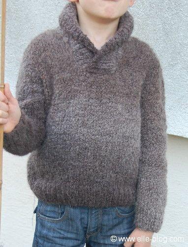 pull garcon tricot