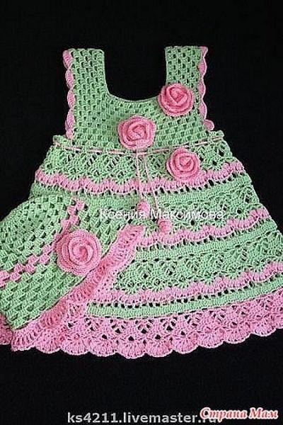 robe crochet fillette