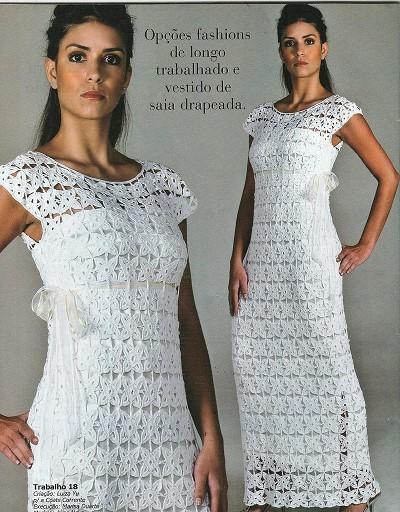 robe en crochet pour femme
