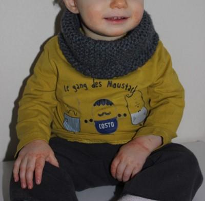 snood bebe garcon tricot
