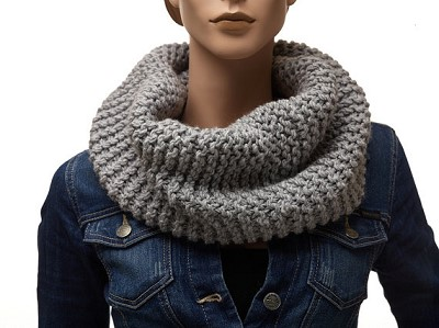 snood femme tricot