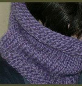 snood tricot aiguilles 8