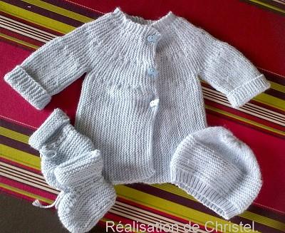 tricot bebe facile gratuit