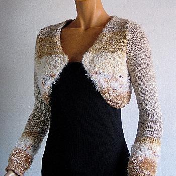 tricot bolero femme