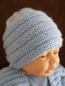 tricot bonnet nouveau ne