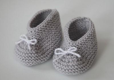 tricot chausson bebe