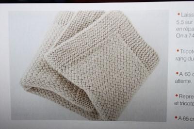 tricot couverture bebe modele gratuit