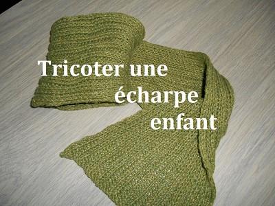 tricot echarpe enfant