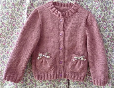 tricot gilet fille