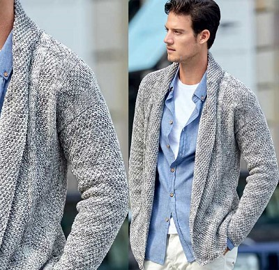 tricot gilet homme