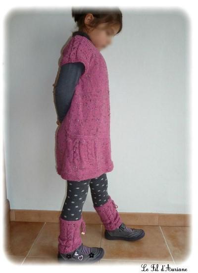tricot tunique fille