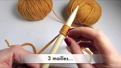 tricoter avec deux fils