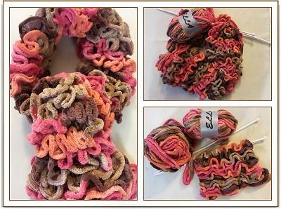 tricoter laine ruban