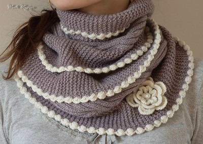 tricoter snood fille