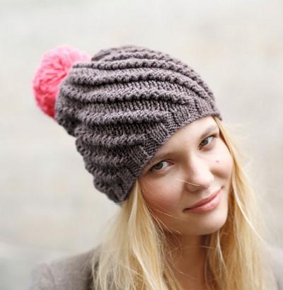 tricoter un bonnet femme
