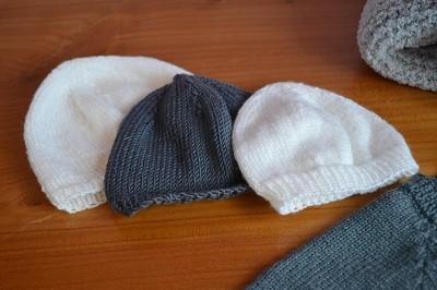 tricoter un bonnet naissance