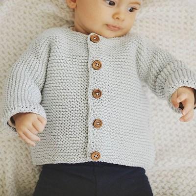tricoter un gilet pour bebe facile