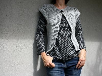 tricoter un gilet sans manche femme