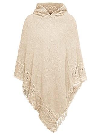 tricoter un poncho avec capuche