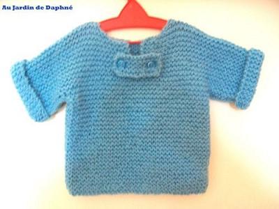 tricoter un pull bebe