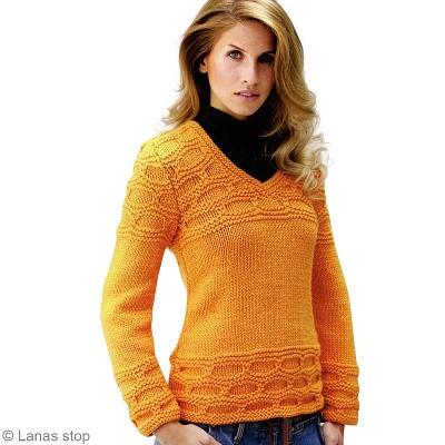 tricoter un pull femme