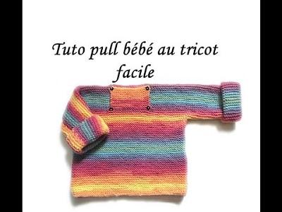tricoter un pull tube fillette