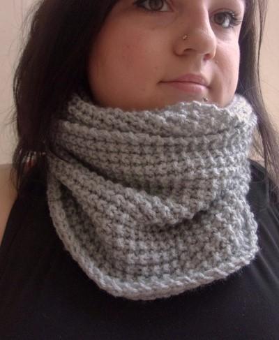 tricoter un snood femme