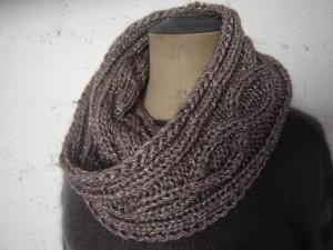 tricoter un snood modele