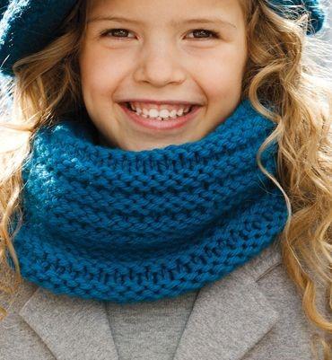 tricoter un snood pour bebe