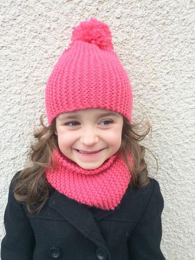 tricoter un snood pour petite fille