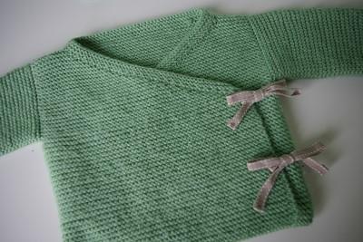 tricoter une brassiere naissance