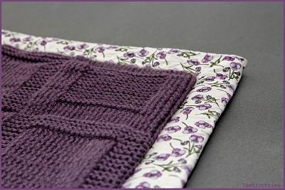 tricoter une couverture en laine pour bebe