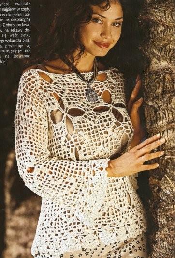 tunique en crochet
